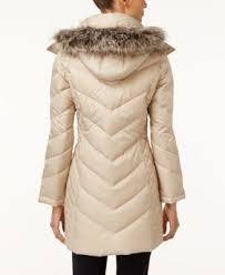 Kenneth Cole Faux-Fur-Trim Chevron Quilted Down Coat - Coats ... & Kenneth Cole Faux-Fur-Trim Chevron Quilted Down Coat Adamdwight.com
