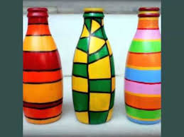 Diy Glass Bottle Art | Set Of Easy Decoration Pictures Ideas | Decraton Pics
