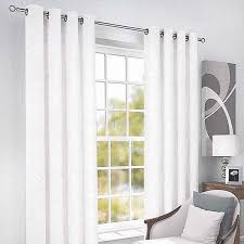 white lined voile eyelet curtains gopelling net