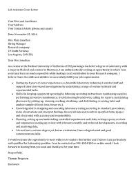 lab assistant cover letter sample sample research assistant cover letter