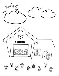 Tuyển chọn 50 bức tranh tô màu trường mầm non quen thuộc cho bé trong 2021    Mầm non, Trường mầm non, Hình ảnh