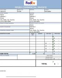 Commercial Invoice Fedex Commercial Invoice Excel Sample3 Invoices Template Invoice