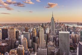 manhattan skyline new york skyline empire state building sunset new york city
