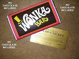 real wonka chocolate bar. Delighful Real 7 Ounce Sized Willy Wonka Chocolate Bar Wrapper And Golden Ticket No  Chocolate Intended Real Wonka Chocolate Bar