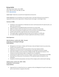Format Of Accountant Resume Resume Format Accountant Doc Cover