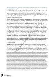 Australia Essay Australian English Essay Year 12 Vce English Language