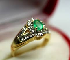 Colombian Ring Size Chart 0 77 Ct Top Colombian Emerald Diamond Ring Size 6 75