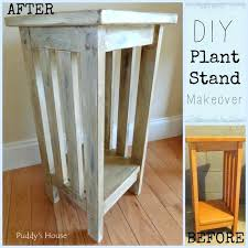 diy wooden plant stands 1 plant stand makeover diy wood plant stands