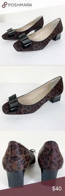 Ellen Tracy Barton Pump Leopard Calf Hair w Patent in 2020 | Shoes women  heels, Calf hair, Heels