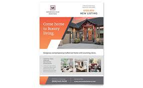 Home Flyers Template Real Estate Flyer Templates Word Publisher