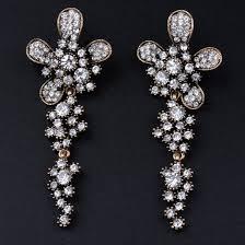 flower dangle drop chandelier earrings gold color 43 earrings gbjw210 sri lanka gobliss lk