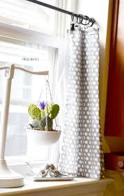 stylish endearing grey white polkadot kitchen curtains target