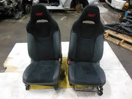 jdm accessorie jdm subaru wrx sti seats black oem 2008 red stitches