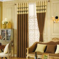Brown And Beige Linen Bedroom Curtains 2016 New Arrival