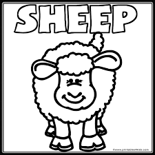 Small Picture Farm Sheep Lamb Coloring Page Printables for Kids free word