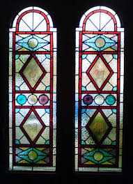 front door stained glass panels with painted inserts by muna zuberi en
