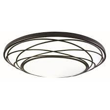 portfolio 19 11 in w black led flush mount light