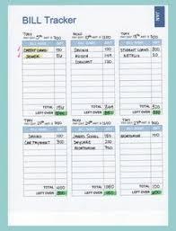 Excel Monthly Bill Tracker Monthly Bill Organizer Excel Xls Living Room Bill Organization