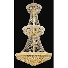 primo gold thirty two light three tier 36 inch chandelier with royal cut