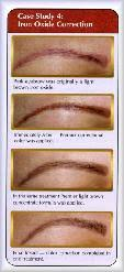 iron oxide permanent eyebrows eventually turn pink