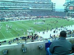 Lincoln Financial Field Section C18 Row 3 Seat 22 Navy