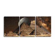 <b>Laeacco 3 Panel</b> Places of Interest Moon Night Posters and Prints ...