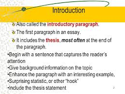 how to write a intro paragraph for an essay the elements of an excellent essay ppt download