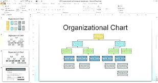 Project Organization Chart Template Excel