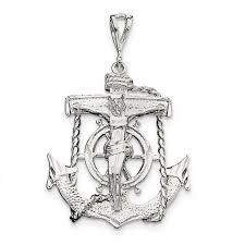 sterling silver mariner cross pendant qc502