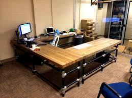 u shaped butcher block desk learn how to build a desk like