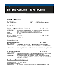 Professional Engineering CV Sample. monash.edu