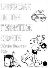 Manuscript Letter Formation Chart Kindergarten Handwriting Uppercase Letter Formation