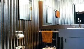 pressed corrugated metal shower stall tin walls galvanized showers