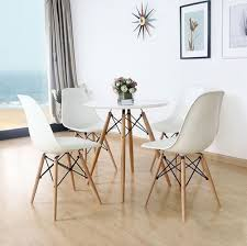 Mid Century Wall Decor Dining Room Mid Century Dining Chairs With White Ceramic Floor