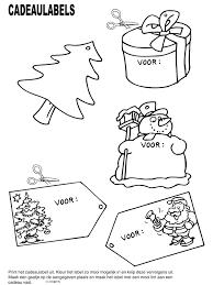 Kleurplaat Cadeaulabels Kerst Kleurplatennl
