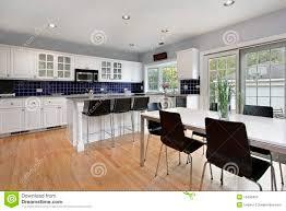 Blue Tiles For Kitchen Kitchen With Blue Tile Backsplash Stock Photos Image 13458423