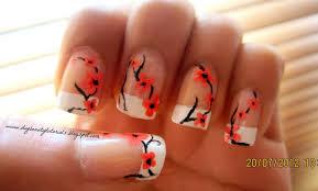 Nail Flower Design Tutorial Nails black and white design flower