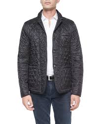 burberry howe quilted sport jacket black