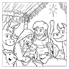 Small Picture Nativity Coloring Pages For Toddlers Coloring Pages