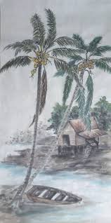 going bananas while i live i learn boat and coconut tree