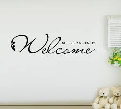 Welcome Quotes Amazing Wall Sticker Quotes Free Shipping Welcome To Our Home Vinyl Wall Art