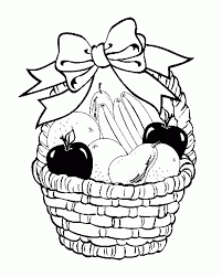 Small Picture Colouring Pages Fruit Basket Coloring Pages For Kids And For