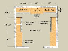 closet depth dimensions. Closet Poles Run Longer. After All, Metal Supports For Single And Double Pole Are Easy To Install, But Installing Linen Shelving Isn\u0027t So Depth Dimensions T