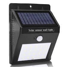 smart sensor and solar power 20 led wall light pir motion sensor outdoor security lamp waterproof