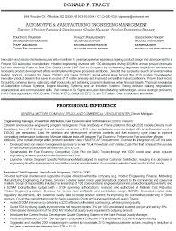 Resume Templates For Engineers Unique Manufacturing Quality Engineer Resume Automotive Engineering Resume