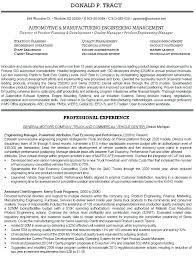Resume Templates Engineering Awesome Manufacturing Quality Engineer Resume Automotive Engineering Resume