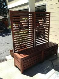 free standing bench and trellis ers freestanding outdoor privacy screen uk