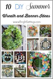 add summer to your home with these 10 gorgeous diy summer wreath and banner ideas