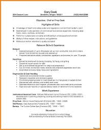 Chef Resume Sample Prep Chef Resume Examples Sample Example Templates Cook Resumes 70