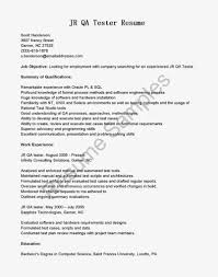 Qa Tester Resume Sample Sample Testing Resume For Experienced Selenium Manual Tester Qa 15